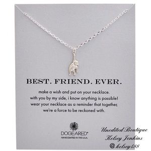 NWT - DOGEARED Best Friends Necklace
